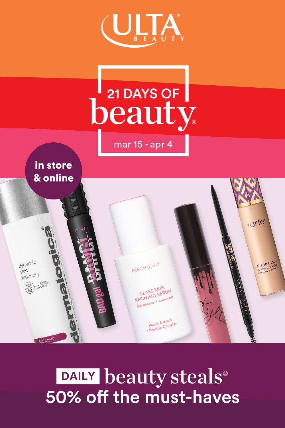 From March 15April 4, get 50 off daily Beauty Steals