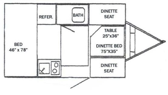 vintage shasta travel trailer floor plans - Google Search | Funzies on
