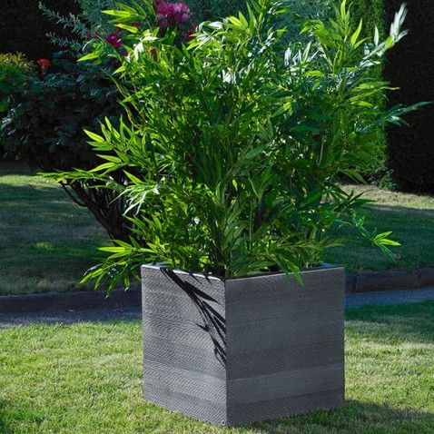 pot design bo pot jardin fleur ext rieur design d co moderne l gant bois garden. Black Bedroom Furniture Sets. Home Design Ideas
