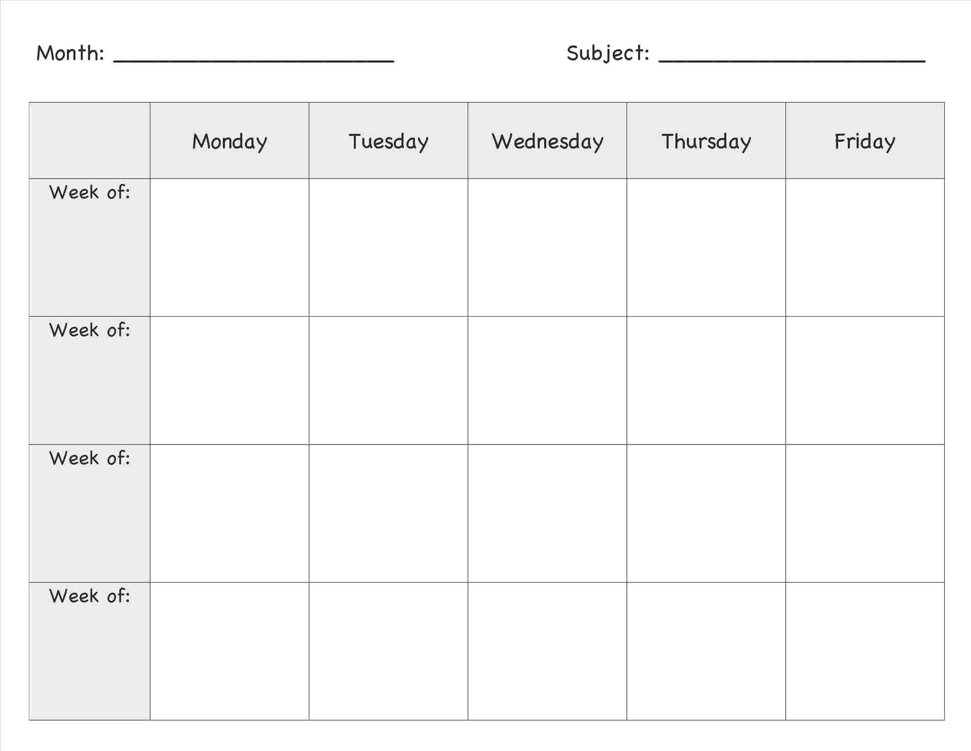 Toddler Weekly Lesson Plan Template Diadeveloper In