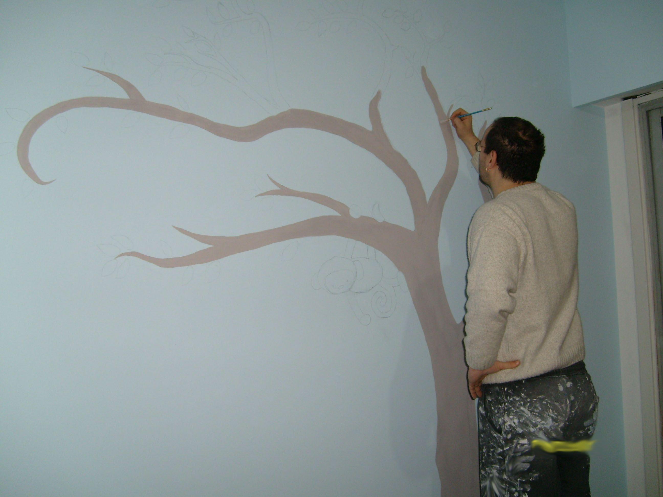 Como pintar un arbol en la pared buscar con google - Como pintar las paredes de mi casa ...