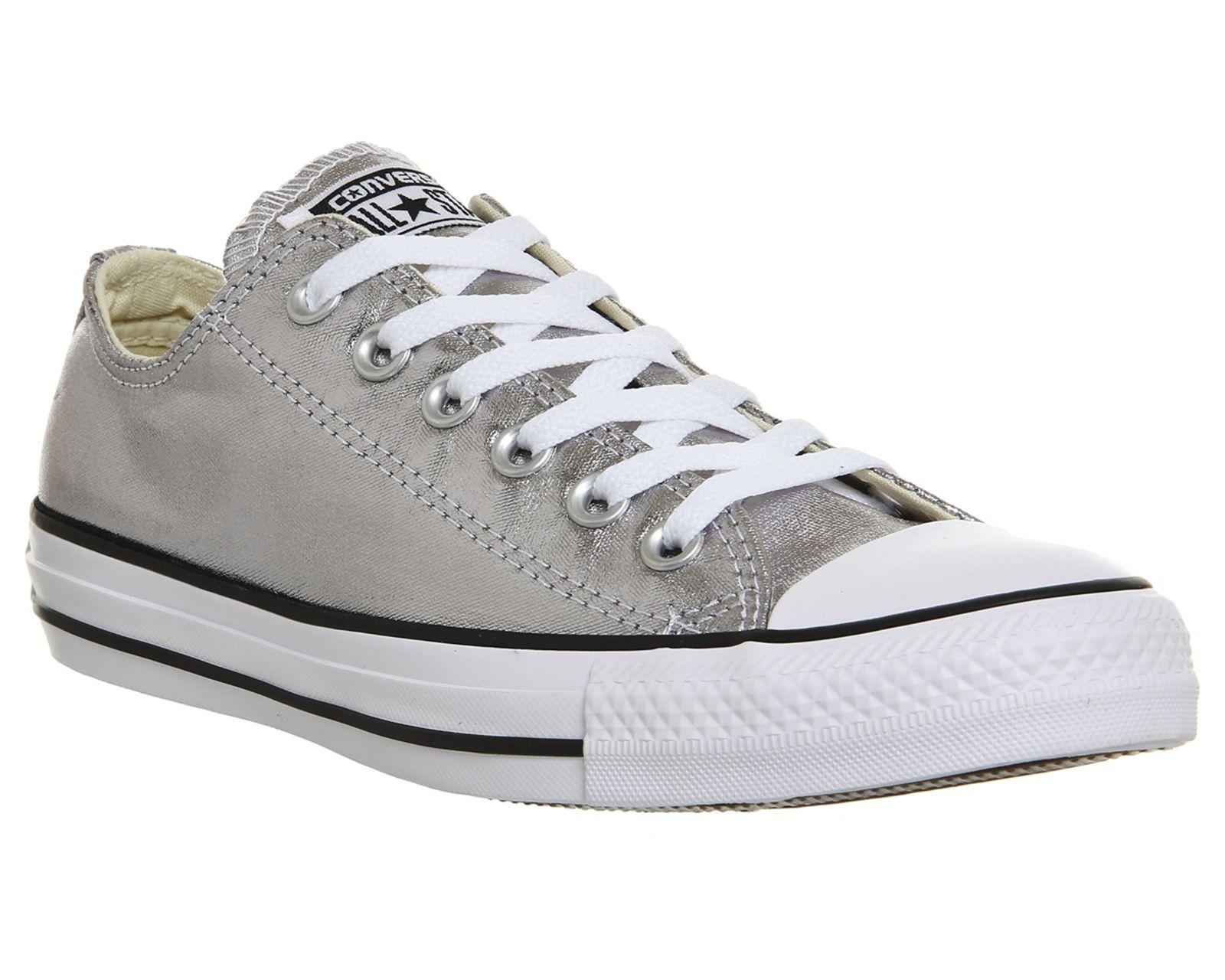 Converse Converse All Star Low Gunmetal Metallic Canvas | Converse ...