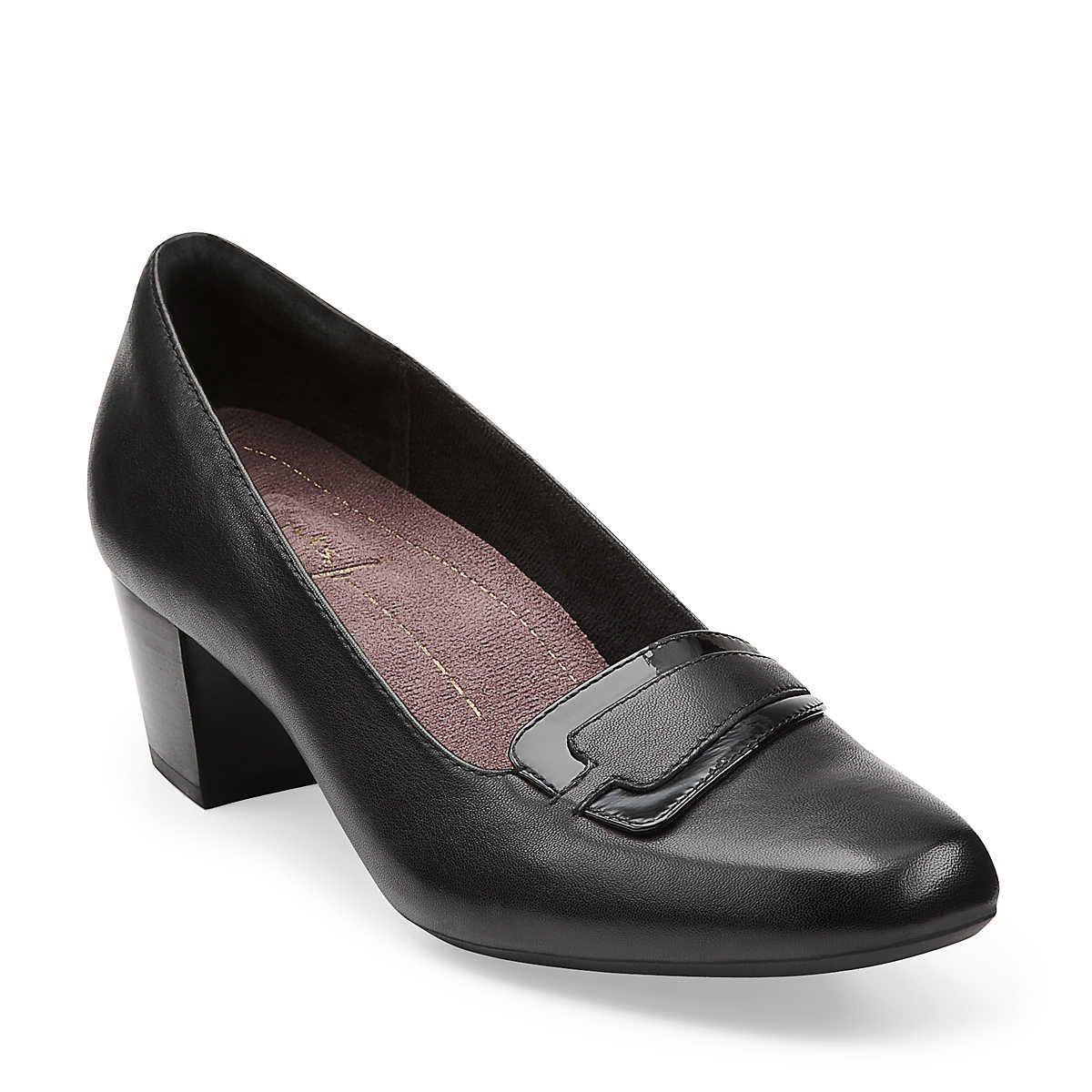 Levee Delta in Black Leather - Womens Shoes from Clarks
