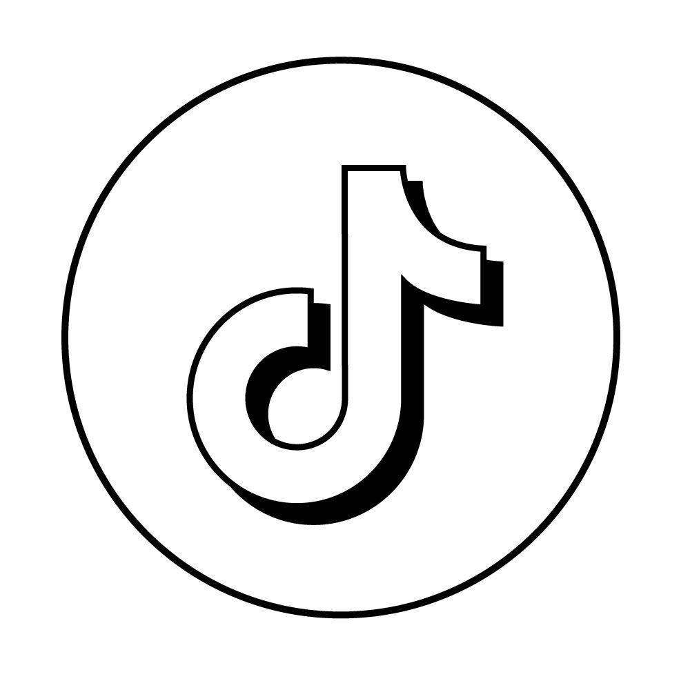 Tik Tok Logo Black And White Logo Outline Black And White Stickers App Logo