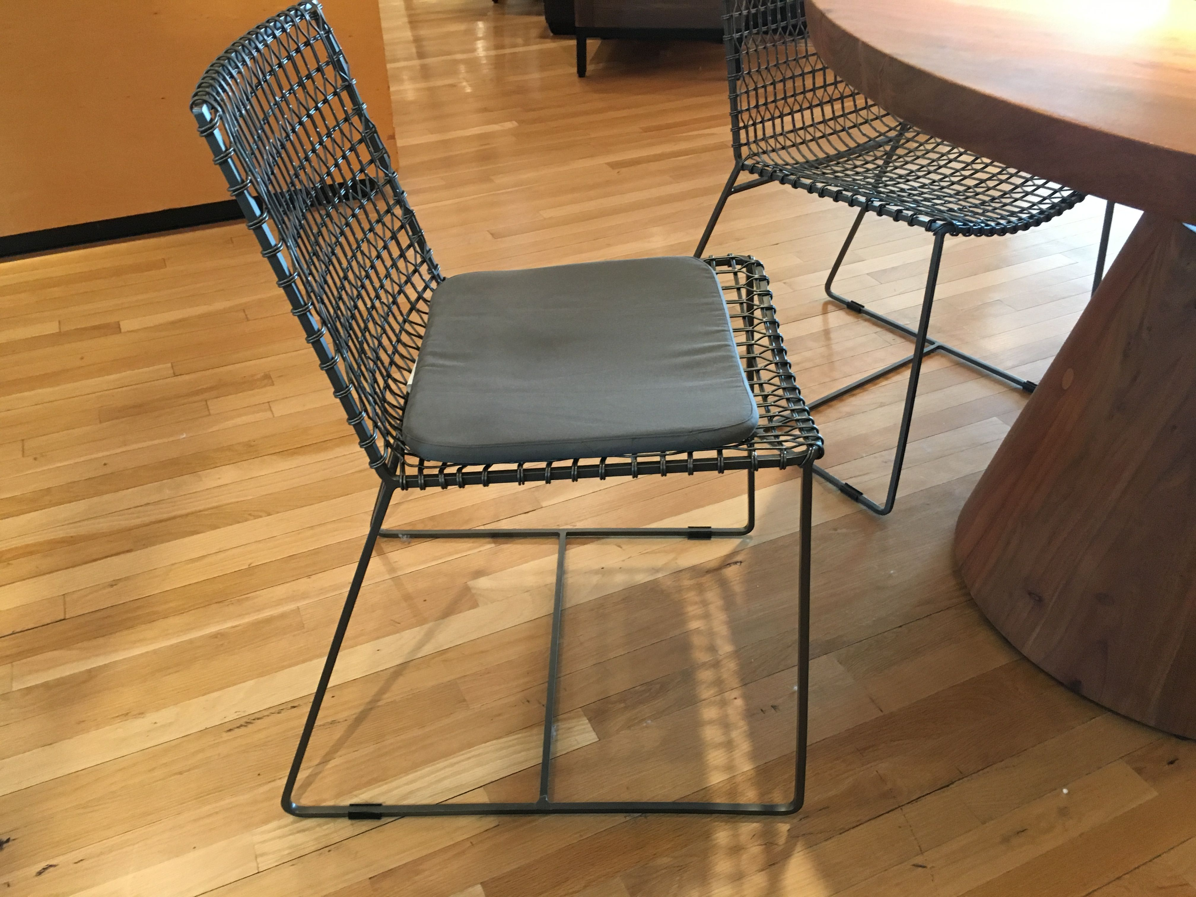 Tig Graphite Dining Chair 199 Brown Leather Cushion 49 95 Crate And Barrel Dining Chairs Dining Chair