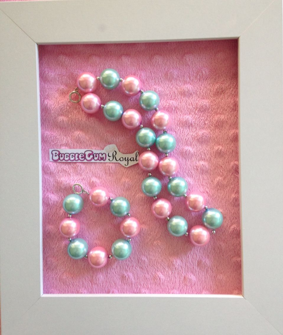 Our classic bubblegum bead necklace in pink and aqua is just $15 including shipping (untracked) anywhere in Australia. Add a matching bracelet for $5 with any necklace purchase. More designs available at www.bubblegumroyal.com