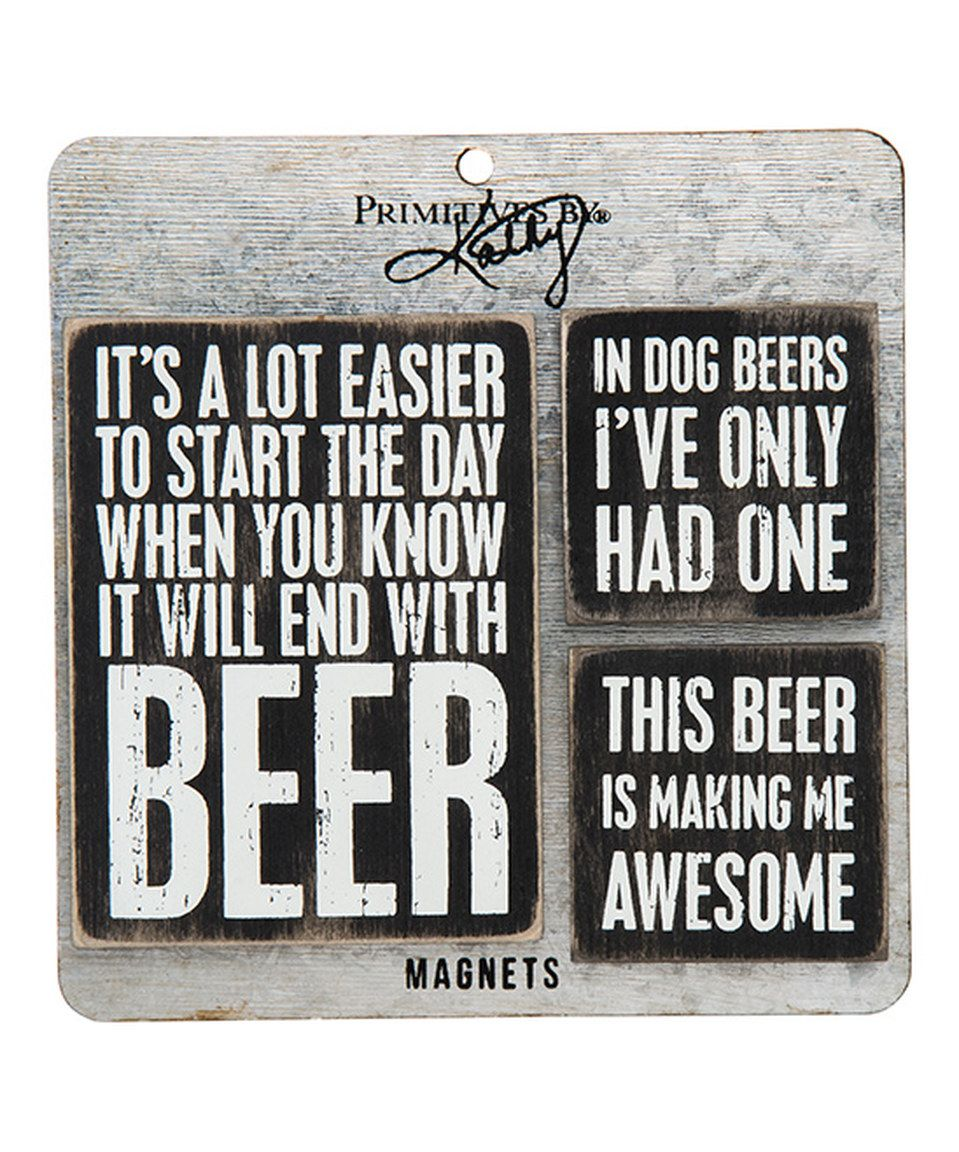Look what I found on #zulily! 'Beer' Magnet Set by Primitives by Kathy #zulilyfinds