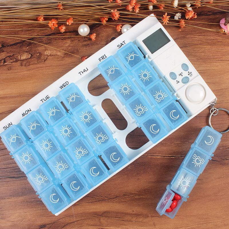 free shipping,Digital pill box case timer 7days pill box with alarm one week pill reminder, electronic medicine box timer