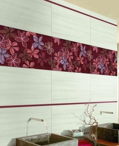 Colourful gloss ceramic bathroom wall tiles by Grespania inspired by ...
