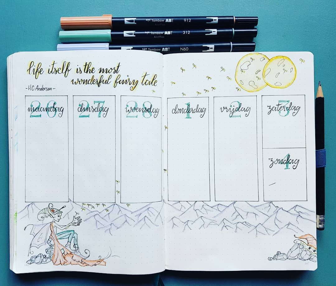 8 Vind Ik Leuks 1 Reacties Dottedlot Dottedlot Op Instagram This Weeks Weekly Again In Sc Bullet Journal Inspiration Journal Design Journal Inspiration