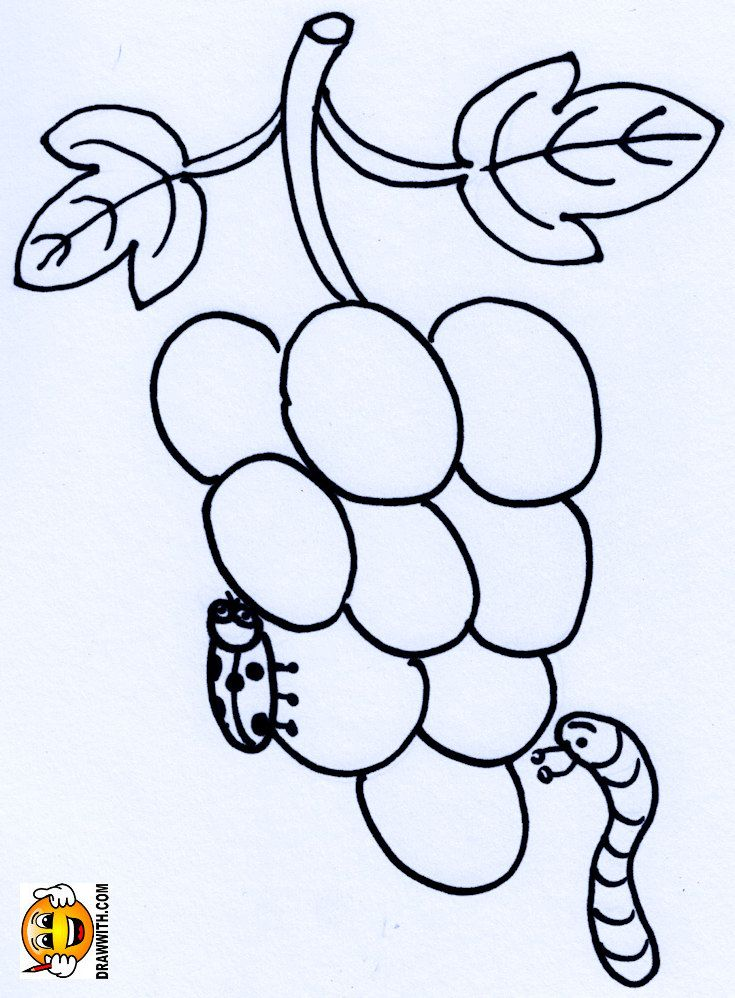 Free Grapes Ladybug Worm Coloring Pages For Kids Which Includes A Color Along Video Tutorial Book Videos Learn To