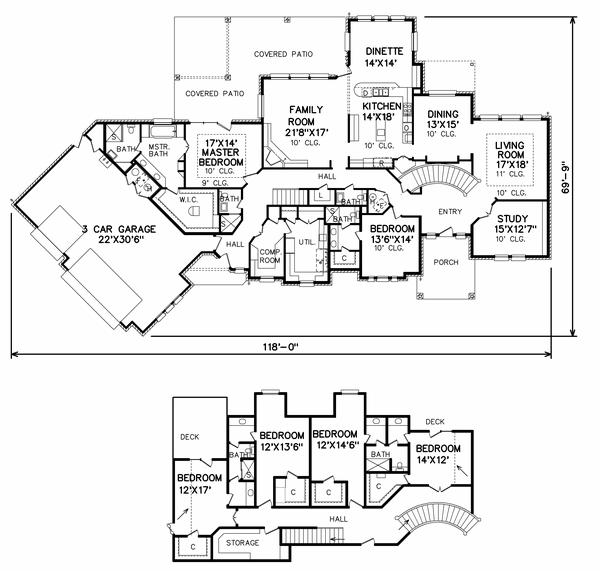 Perry House Plans Floor Plan # 5838 (C) 2017 Http://www