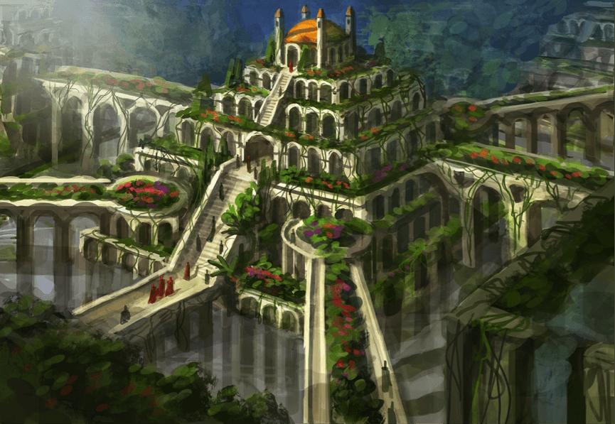I giardini pensili di Babilonia, le sette meraviglie del