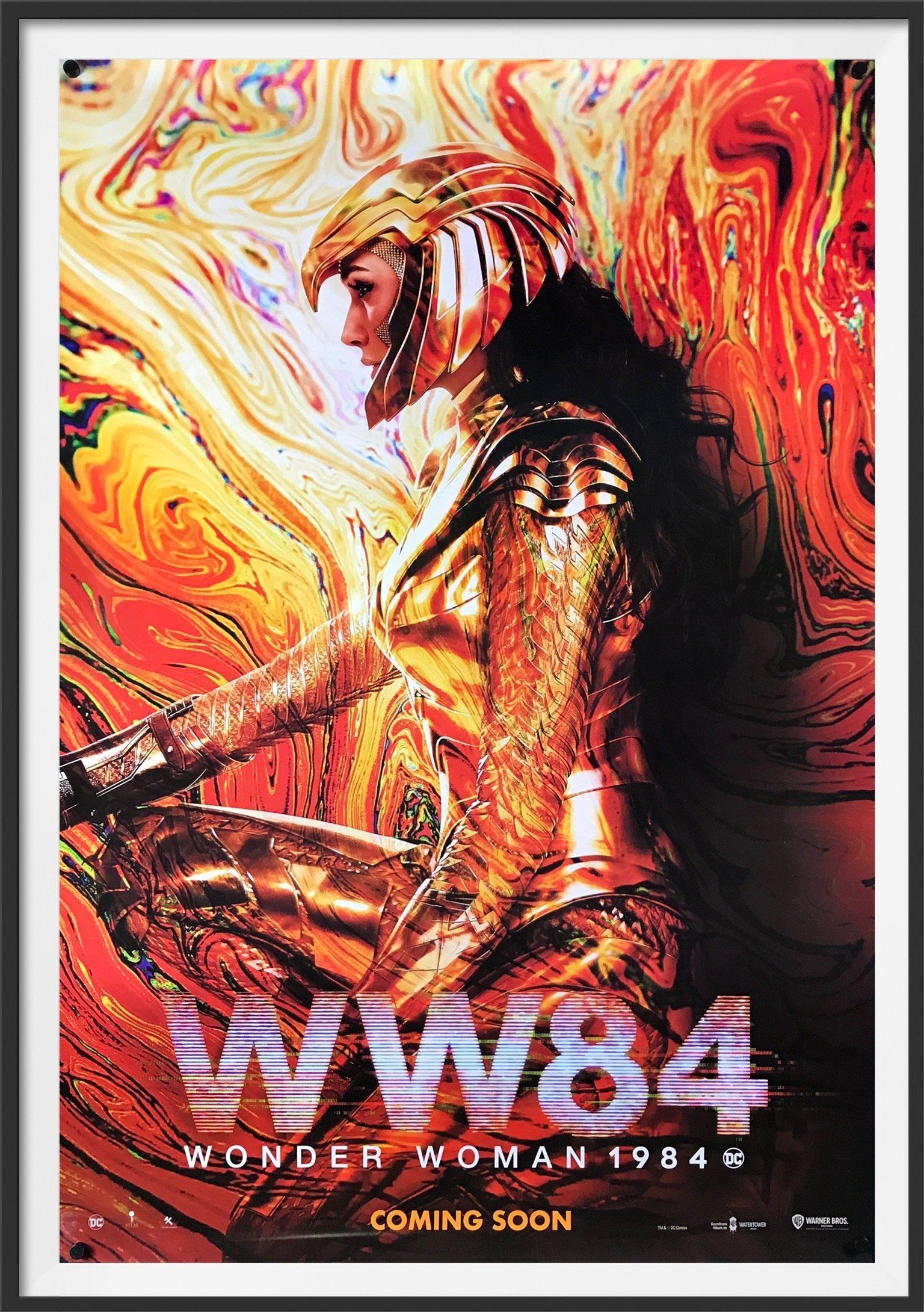 """Condition: Very Good to Excellent. Never folded! Free shipping within the UK. A low flat rate for the rest of the world. Size: 69 cm x 102 cm (27 in x 40 in) A guaranteed original advance one sheet movie poster for the Patty Jenkins' super-hero sequel """"Wonder Woman 1984"""", based upon the D.C. comic books and eventually released in December 2020. With Gal Gadot reprising her role as 'Diana Prince' / 'Wonder Woman', the film also stars Chris Pine as 'Steve Trevor' (despite him having apparently die"""