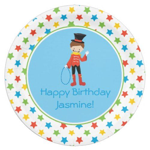 Circus Theme | Ringmaster Personalized Paper Plate  sc 1 st  Pinterest & Circus Theme | Ringmaster Personalized Paper Plate | Circus Birthday ...