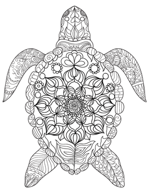 Sea Turtle Coloring Page New art Pinterest Sea turtles
