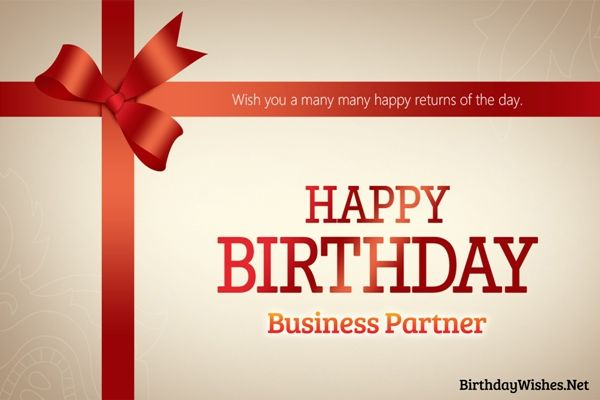 Business Partner Birthday Wishes Birthday Pinterest Birthdays - birthday wish template