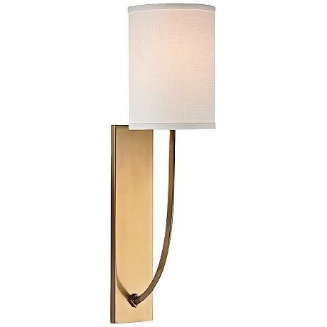 Hudson Valley Colton 17 High Aged Brass Wall Sconce 5t364