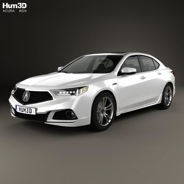 Acura TLX A-Spec 2017 3d Model From Hum3d.com. (With