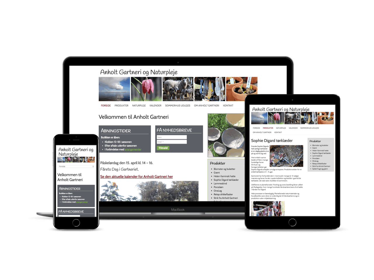 Hjemmeside I Wordpress Til Anholt Gartneri Design Web Webdesign Feng Shui