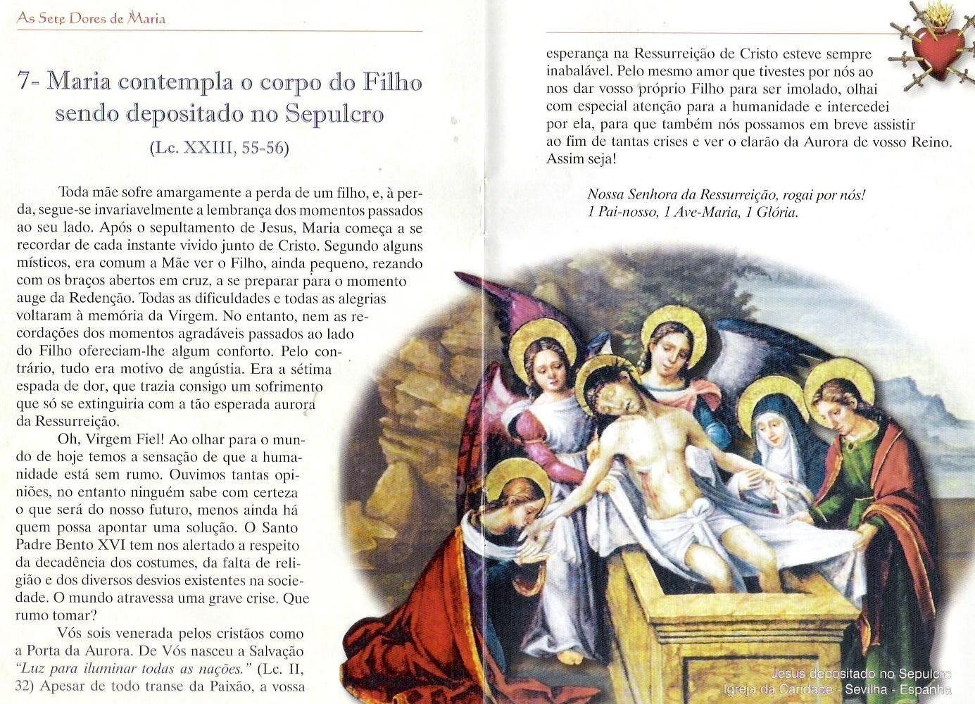 Setima Dor De Nossa Senhora Senhor Tercos E Cristo