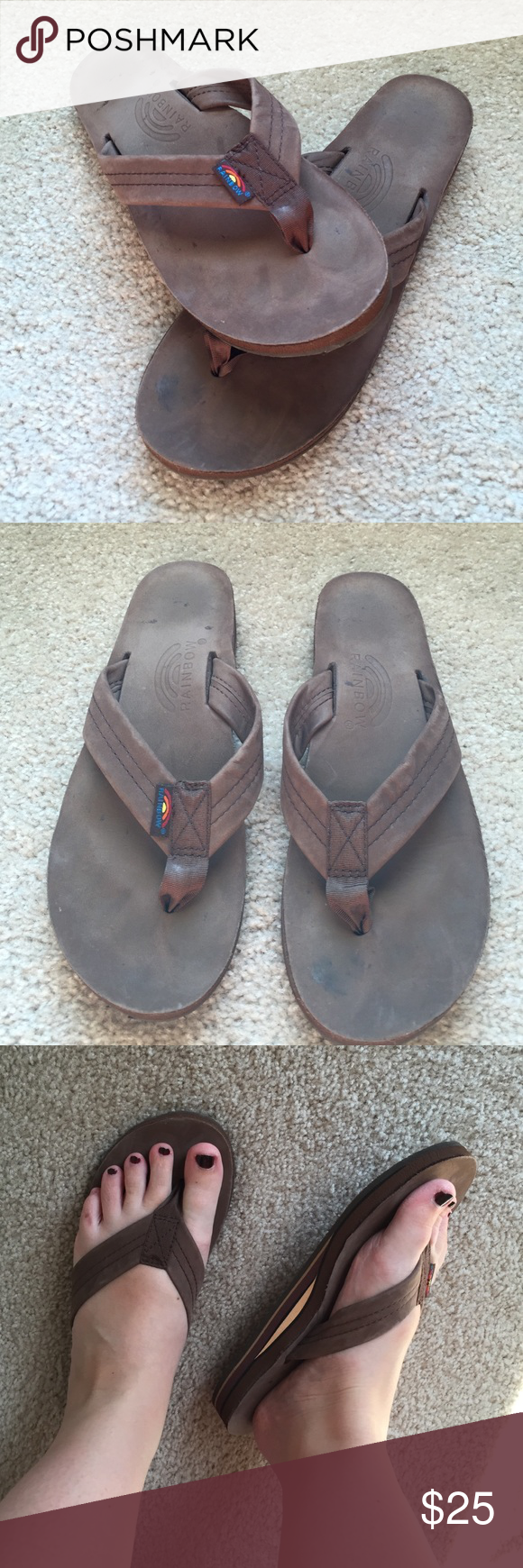 73c0e64d4 Espresso Rainbow sandals These are brand new women s Rainbow sandals. Worn  maybe once