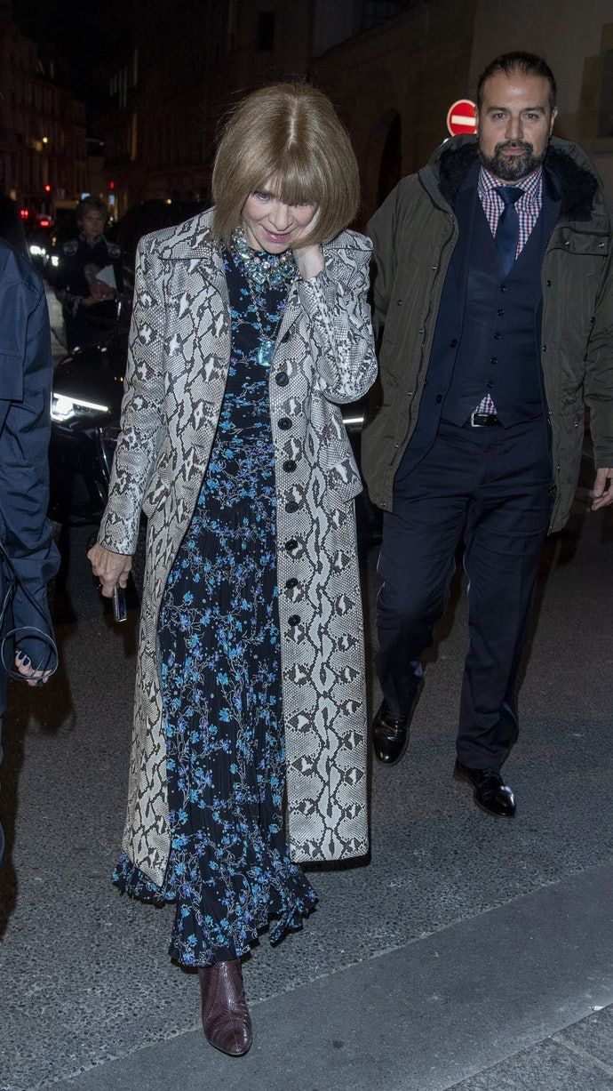 How To Mix Prints Without Clashing, Like Anna Wintour