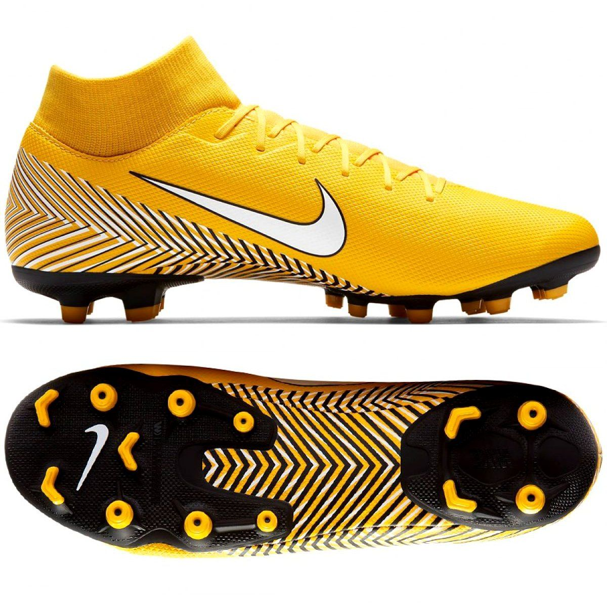 Nike Mercurial Neymar Superfly 6 Academy Mg M Ao9466 710 Yellow Multicolored Nike Soccer Shoes Mens Football Boots Football Shoes