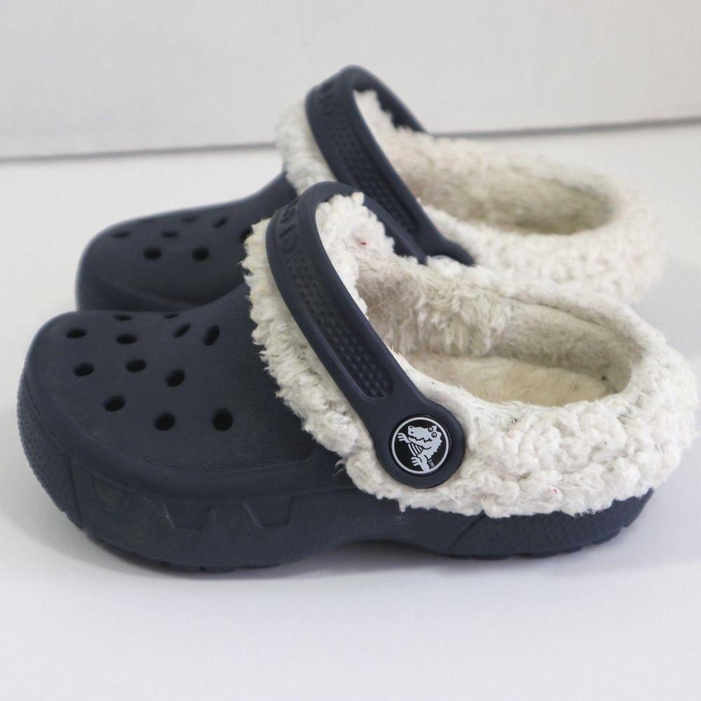 Crocs Plush Faux Fur Lined Girls Clogs