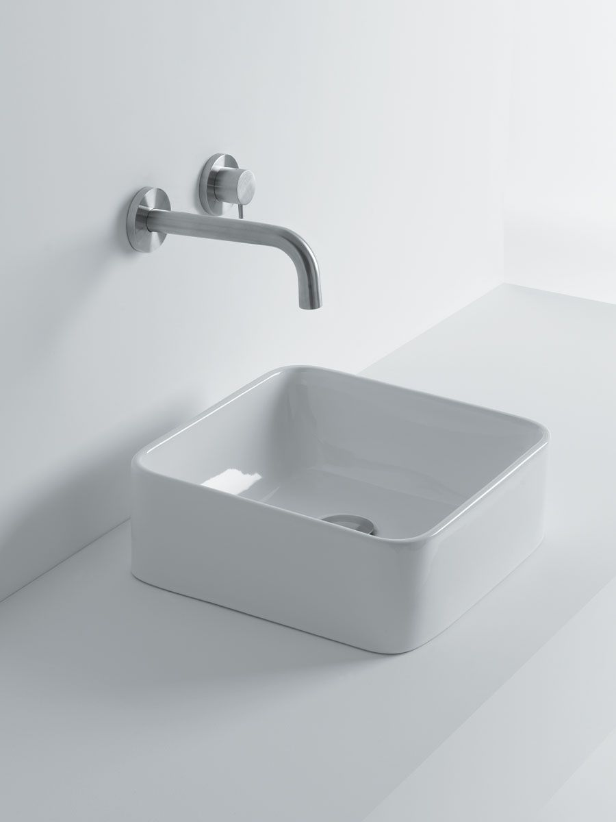 White Stone Xs Sheer 350 Square Above Counter Basin 403