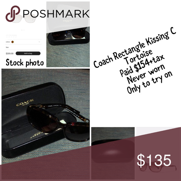 8d87c450eb Coach Rectangle Kissing C Sunglasses These are brand new! No scratches!  Authentic! Just