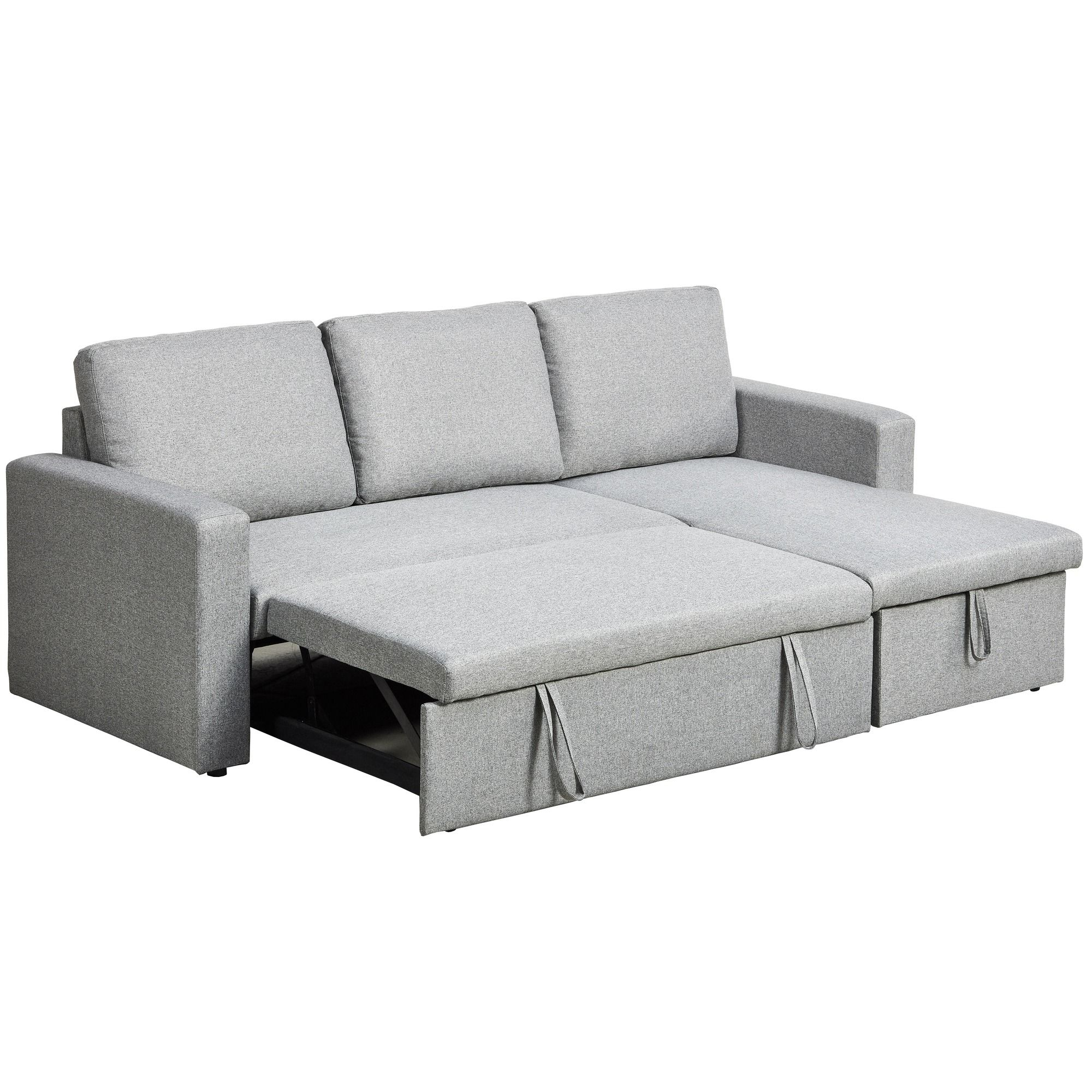 Perfect For Unexpected Guests The Sofa Transforms Into A Double Bed With Hidden Storage For Bedding And Cushions The Sleek Design An Chaise Sofa Sofa Sofa Bed