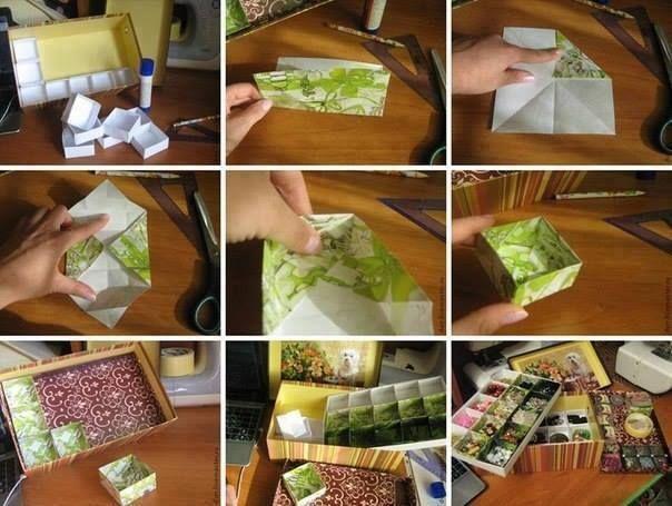 Cajitas con papel!