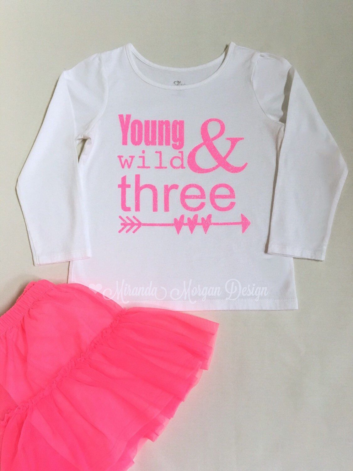 Items Similar To Young Wild And Three Birthday Shirt 3rd Third Toddler 3