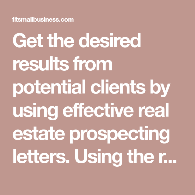 14 Free Real Estate Prospecting Letter Templates That Work