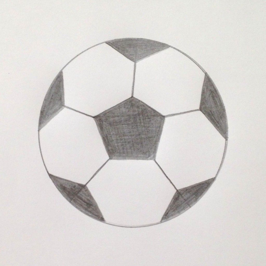 Learn To Draw A Simple Soccer Ball With Teach Kids Art Soccer Ball Ball Drawing Soccer