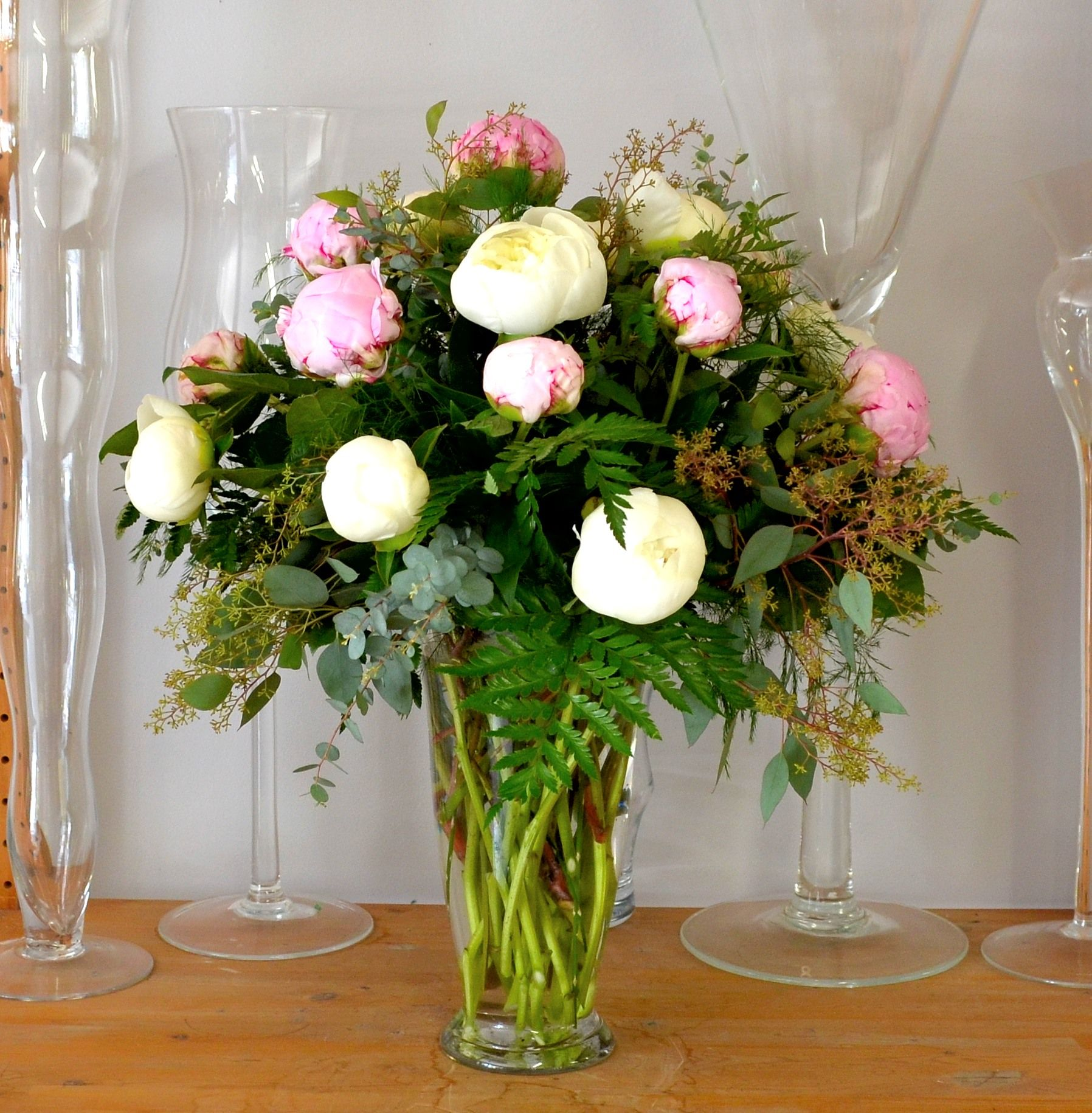 Peony Sympathy Arrangement For The Home