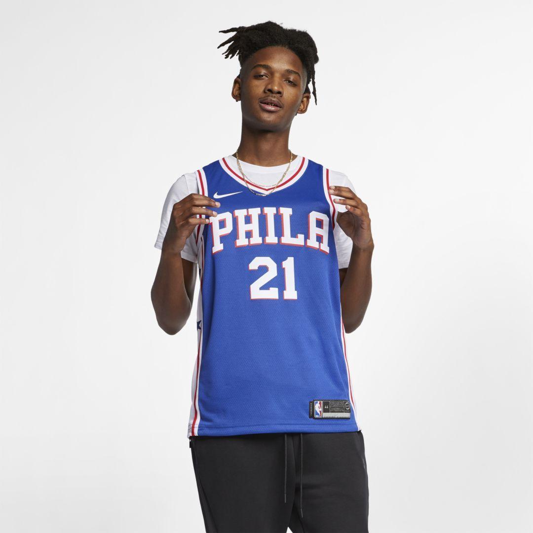 eeebd9b38 Customized Men Swingman Philadelphia 76ers Alternate NBA Royal Blue Adidas  Tailored Fit Design Jerseys