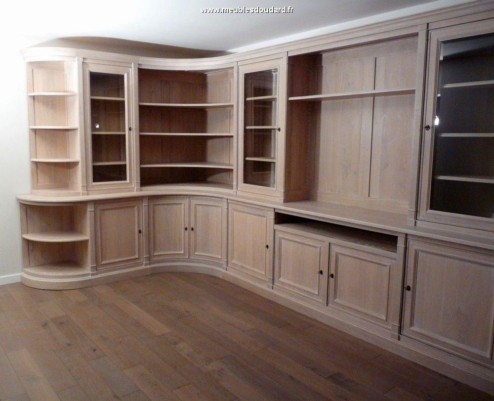 Tonnant Meuble Bibliotheque D Angle En Bois D Coration  # Meuble Bibliotheque Couleur Merisier