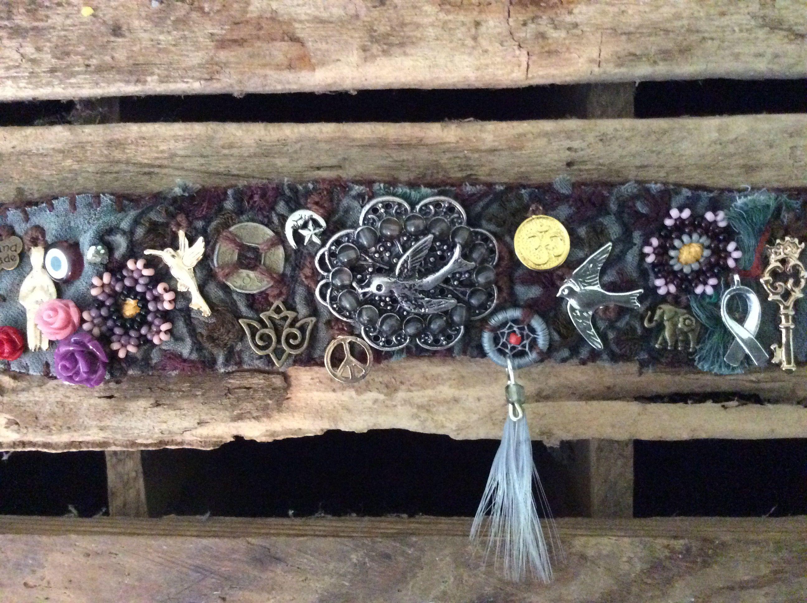 Bird textile bracelet