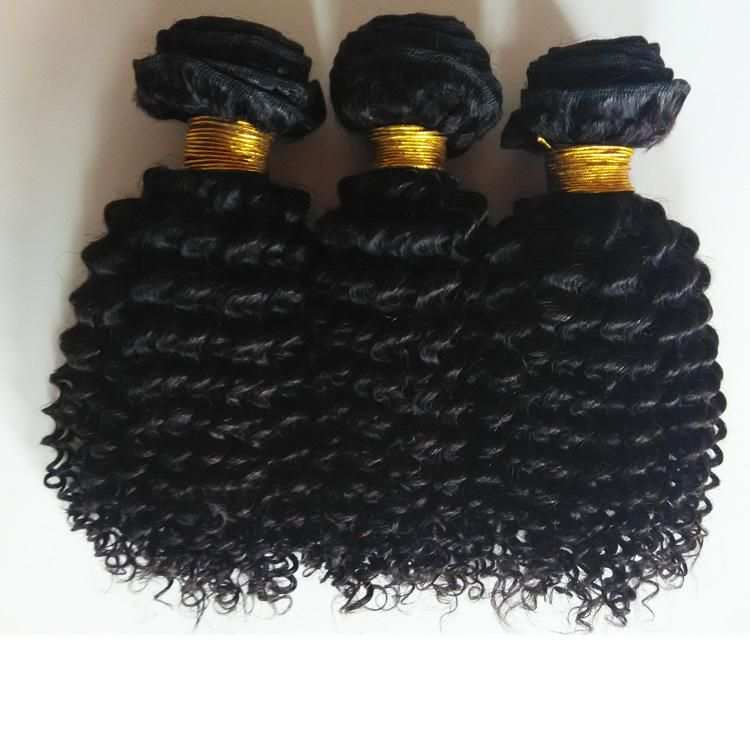 Hot Selling Cheap Kinky Curly Human Hair Extension Grade 100% Unprocessed Human Hair Extensions 3Bundles Brazilian Human Hair Weaves #humanhairextensions