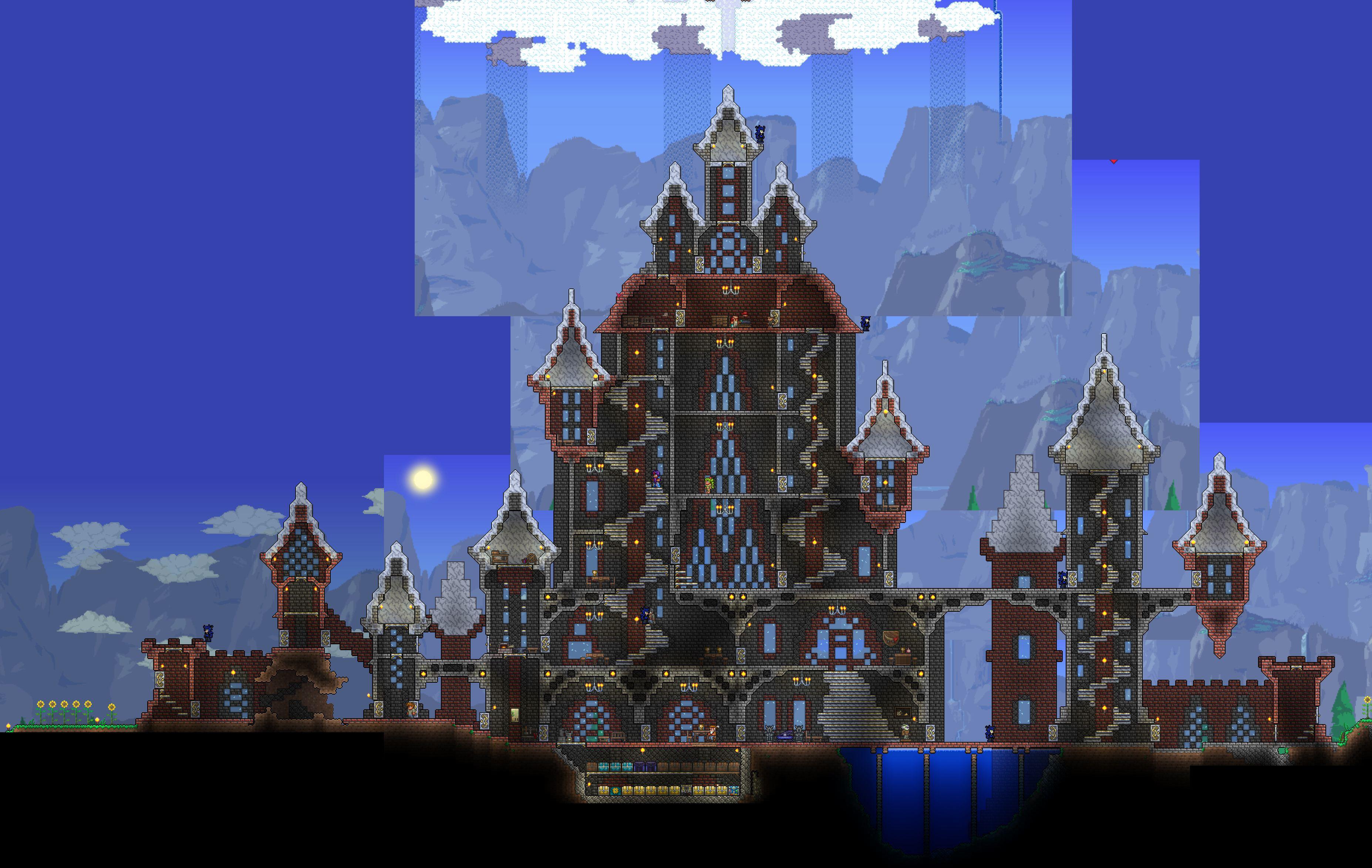 Img Terraria Castle Steampunk House Terrarium