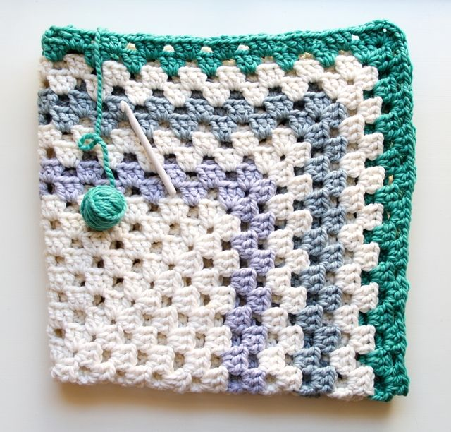Giant Granny Square Blanket Crochet Pinterest Square