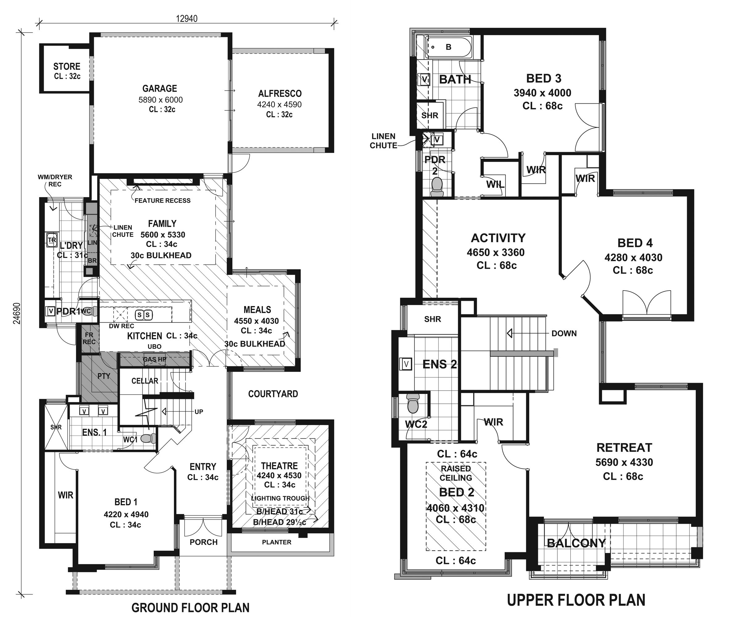layout plan for residential house - Modern House Plan