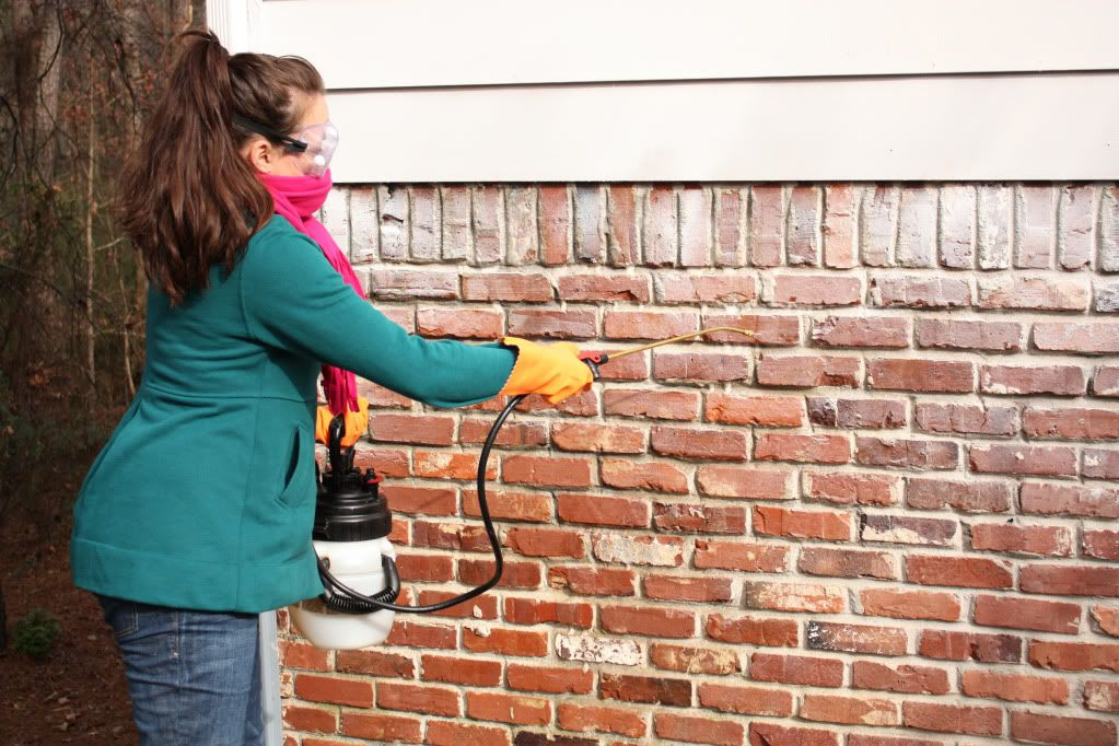 How To Remove Paint From Exterior Brick Home Our First