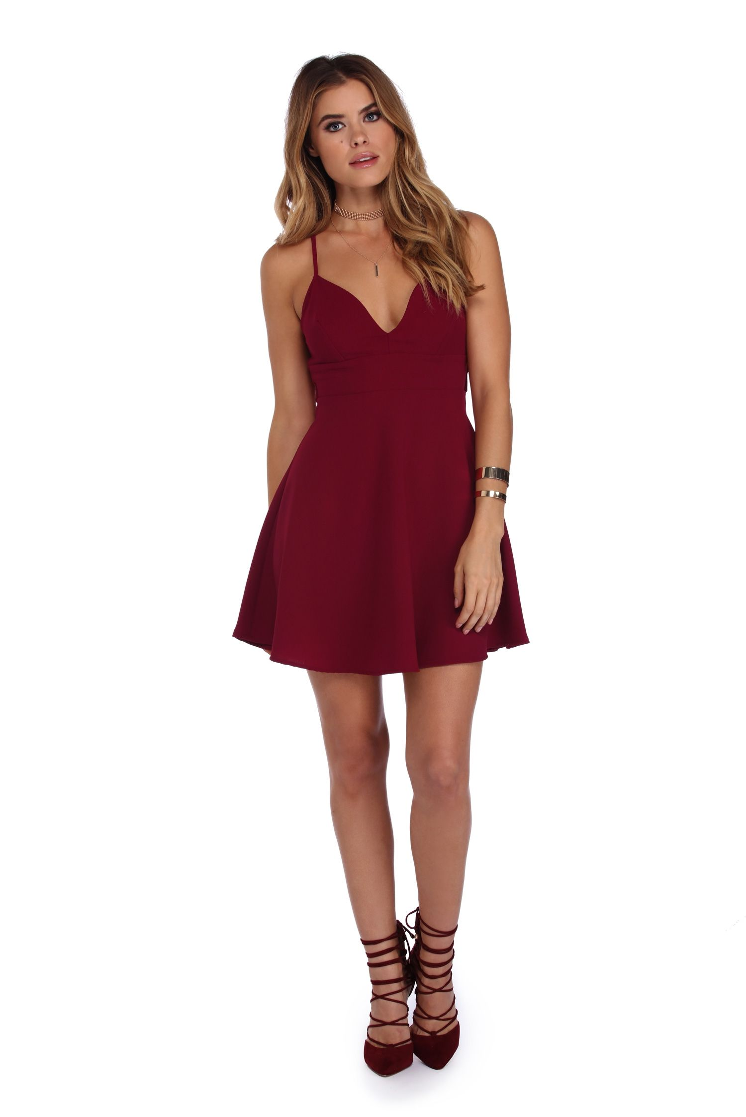 FINAL SALE- Burgundy First Love Skater Dress | Final sale ...