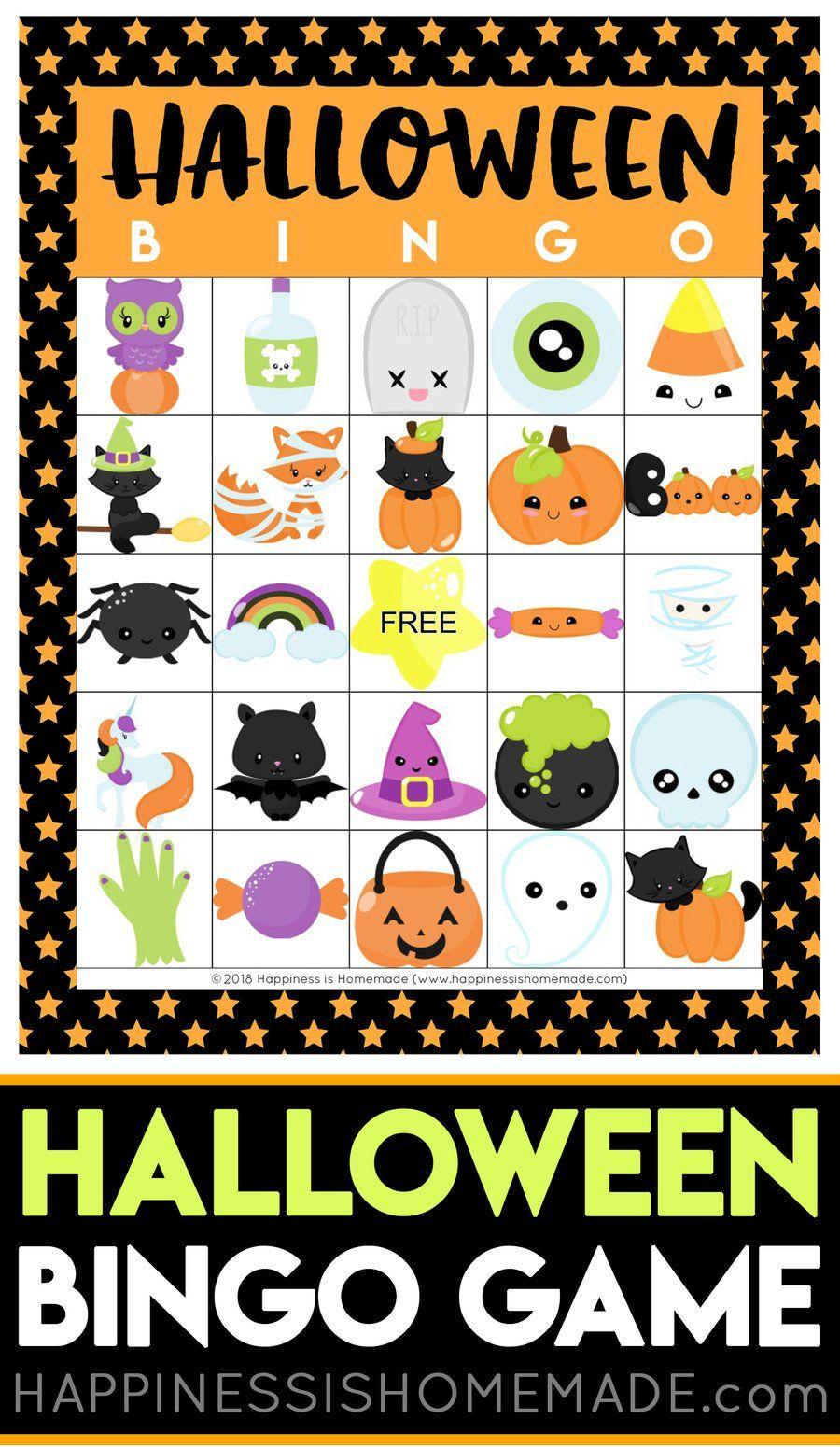 Halloween Bingo Happiness is Homemade in 2019