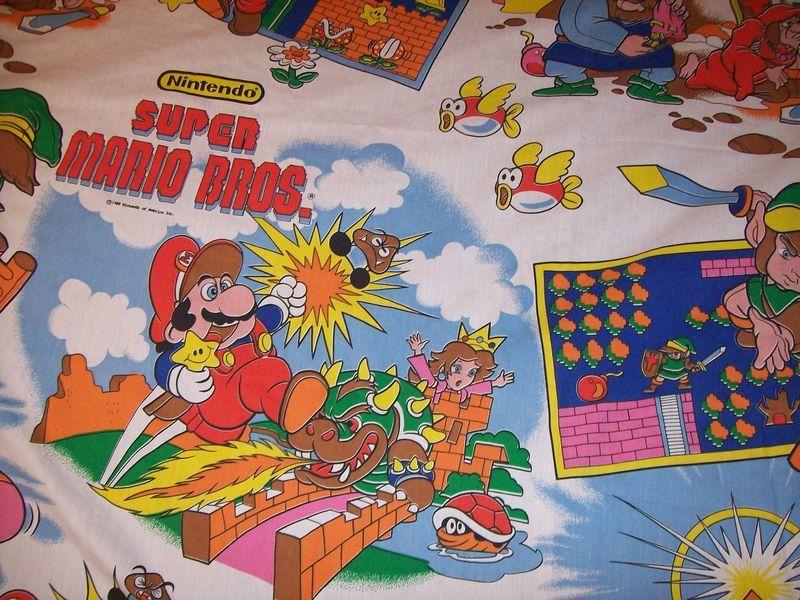 Mario bros bed sheets