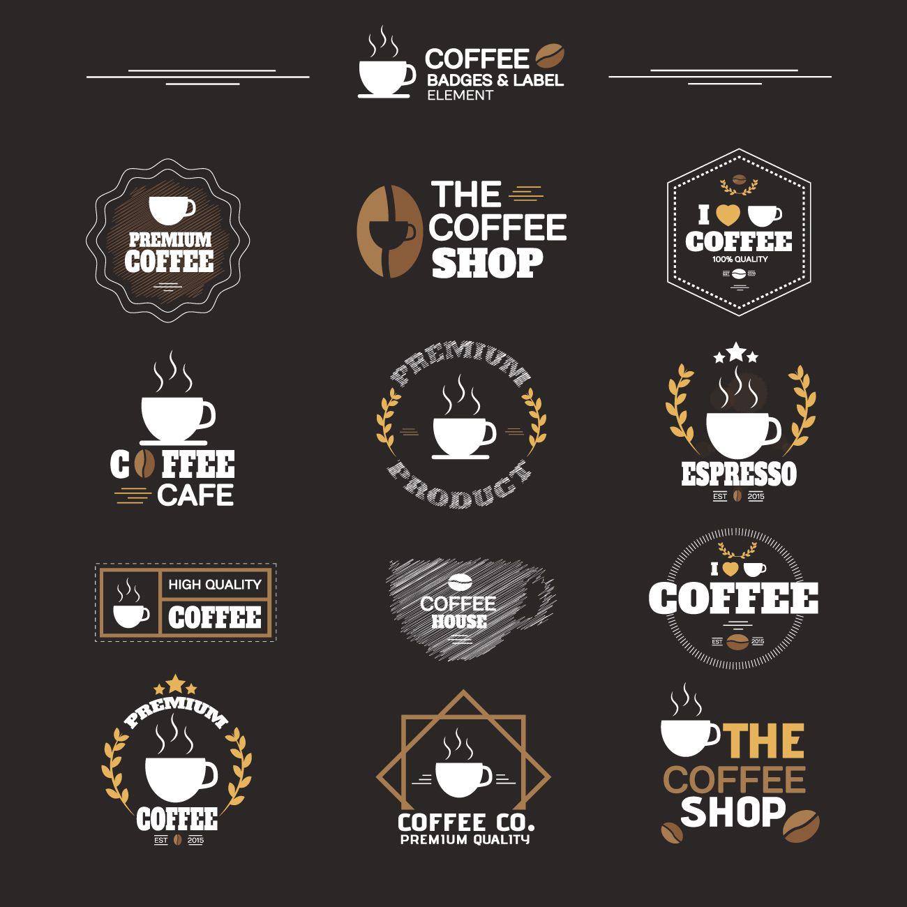 Cafe Logo Brosur Desain Kopi