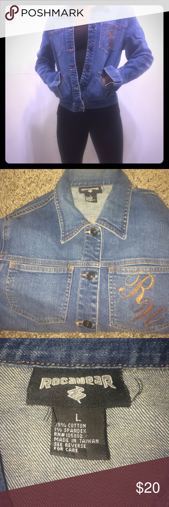 Jean Jacket Willing to negotiate on price! Feel free to make an offer  Rocawear Jackets & Coats Jean Jackets